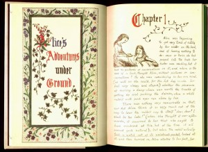 Opening page of Alice's Adventures Under Ground
