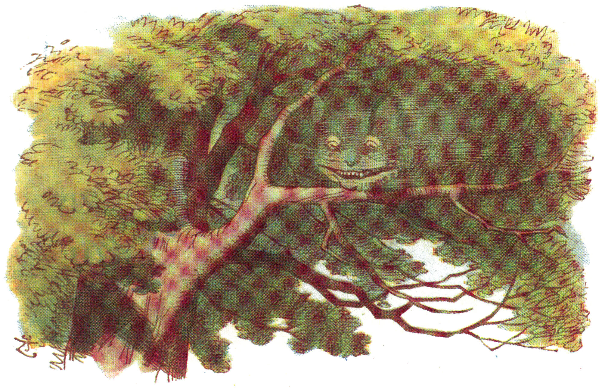 Disappearing Cheshire Cat, colored