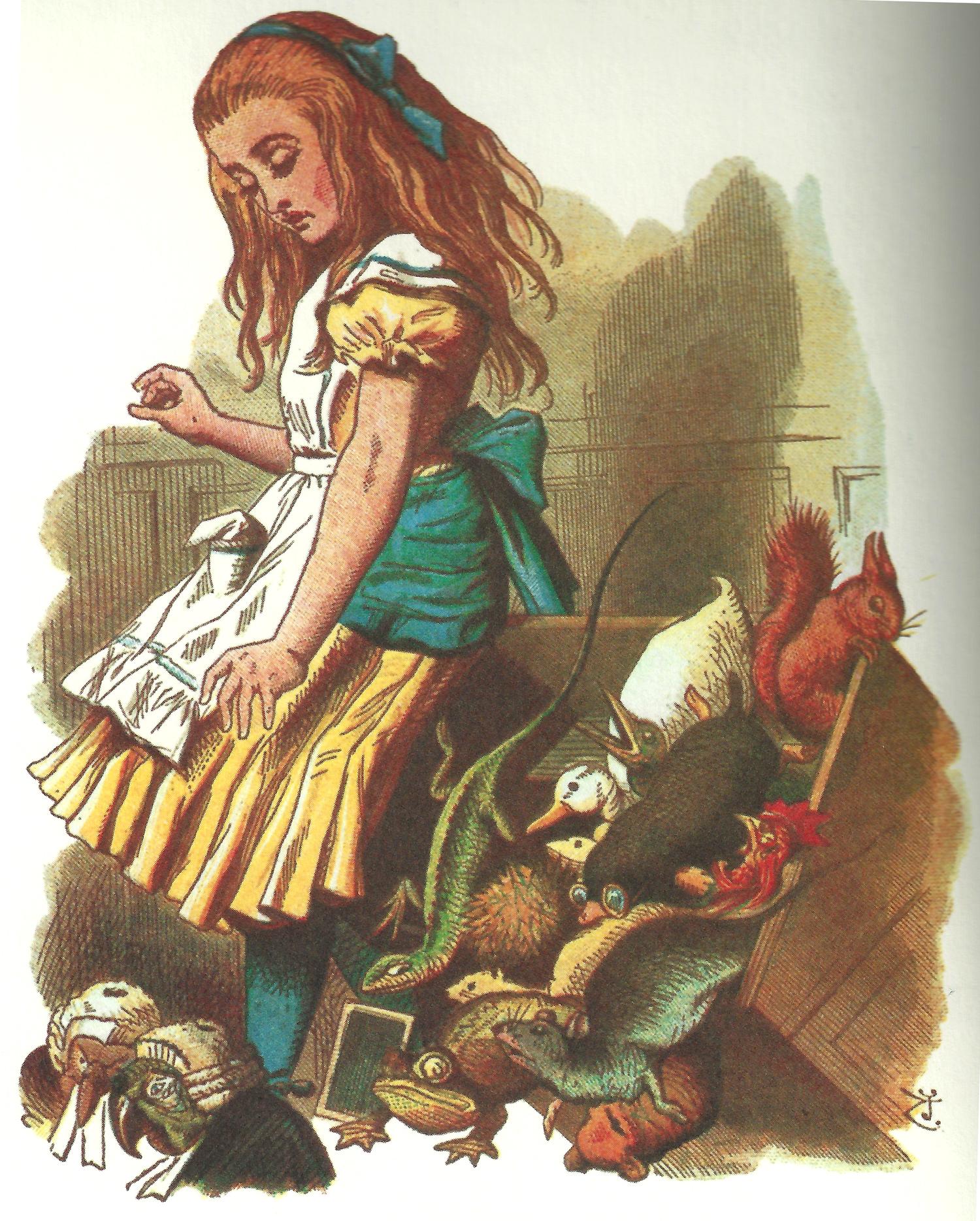 Alice upsetting the juror box, colored