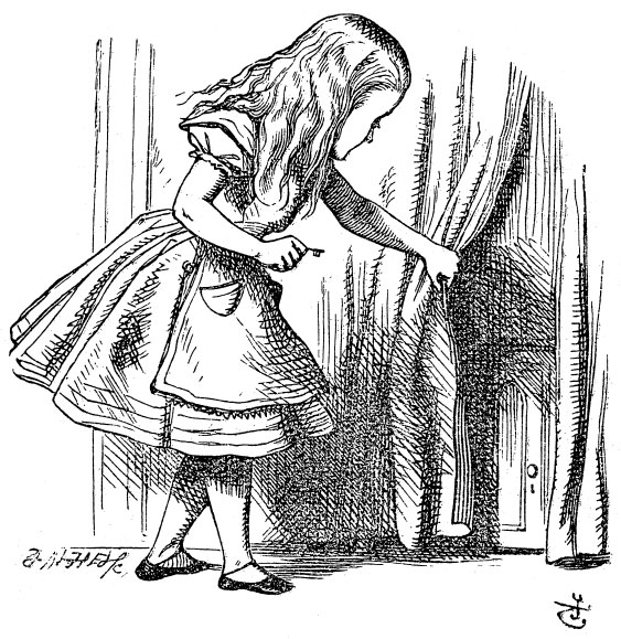 Alice looking behind the curtain