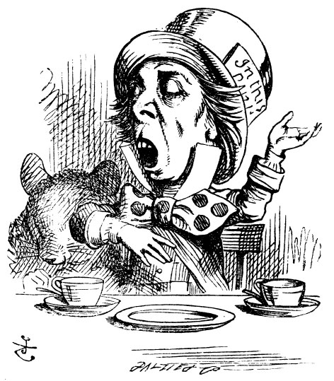 The Mad Hatter reciting