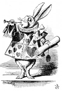 The White Rabbit blowing his trumpet