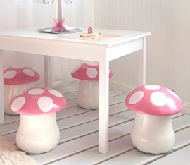 2-Pcs-Mushroom-Toadstool-Chairs-Set-for-Kids-Room-0