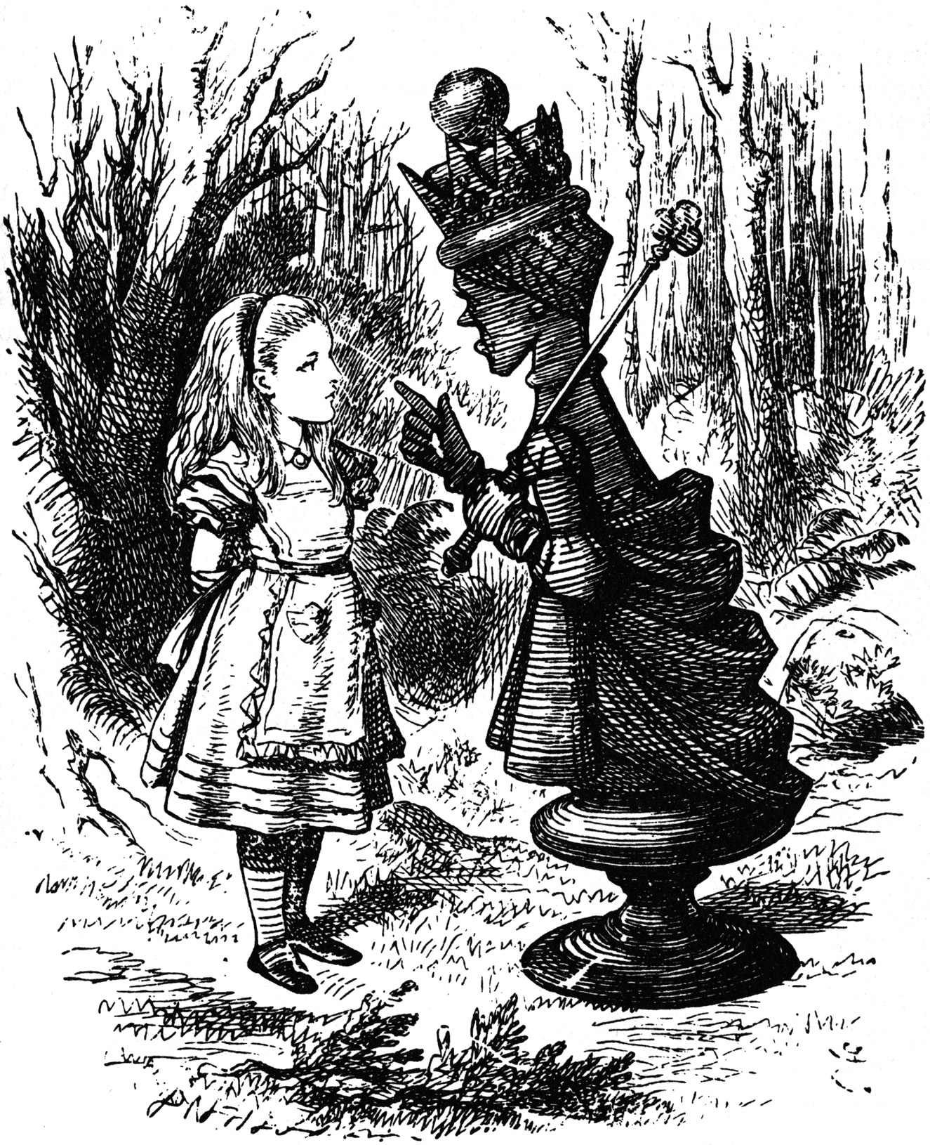 Red Queen speaking to Alice