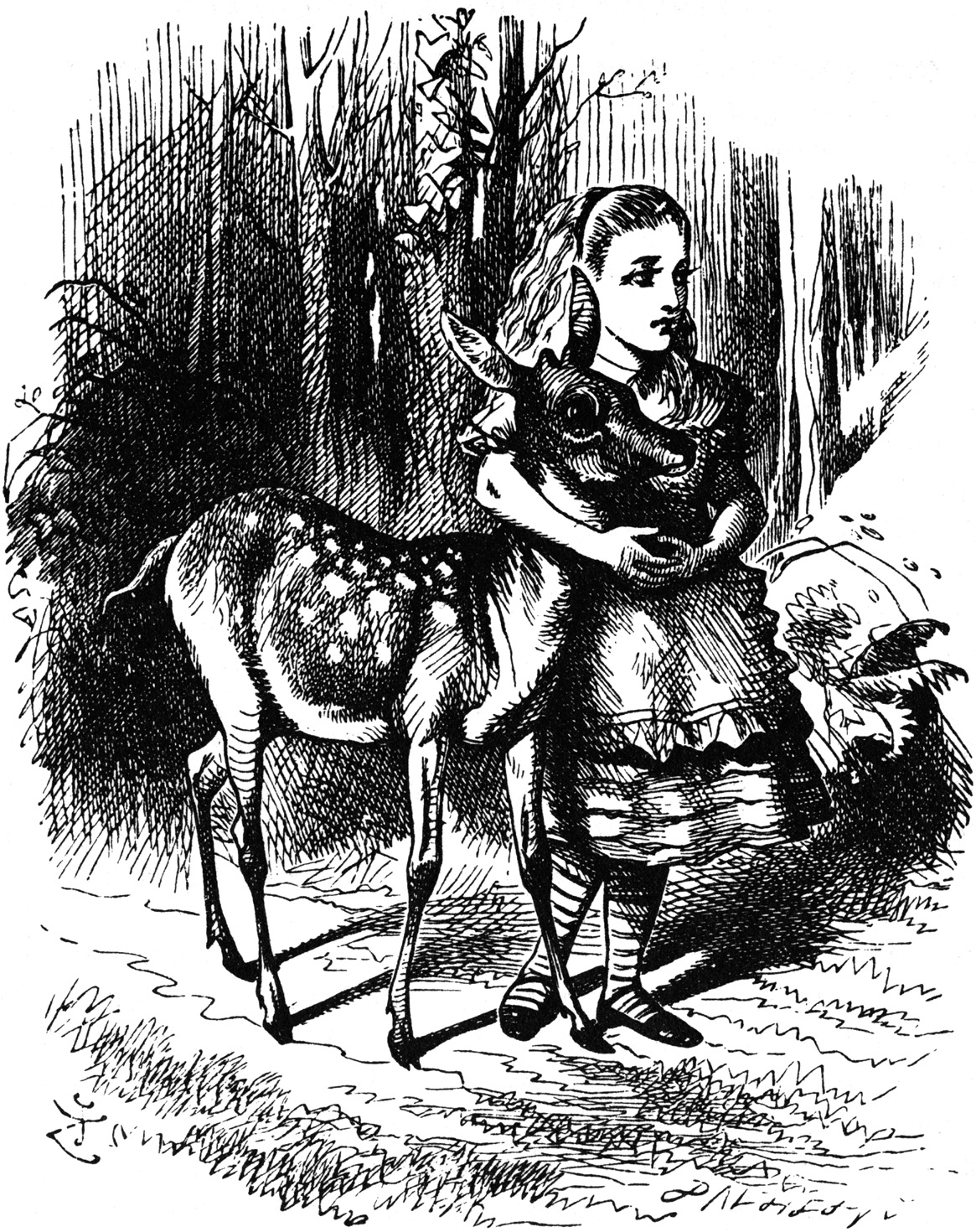 Alice with fawn