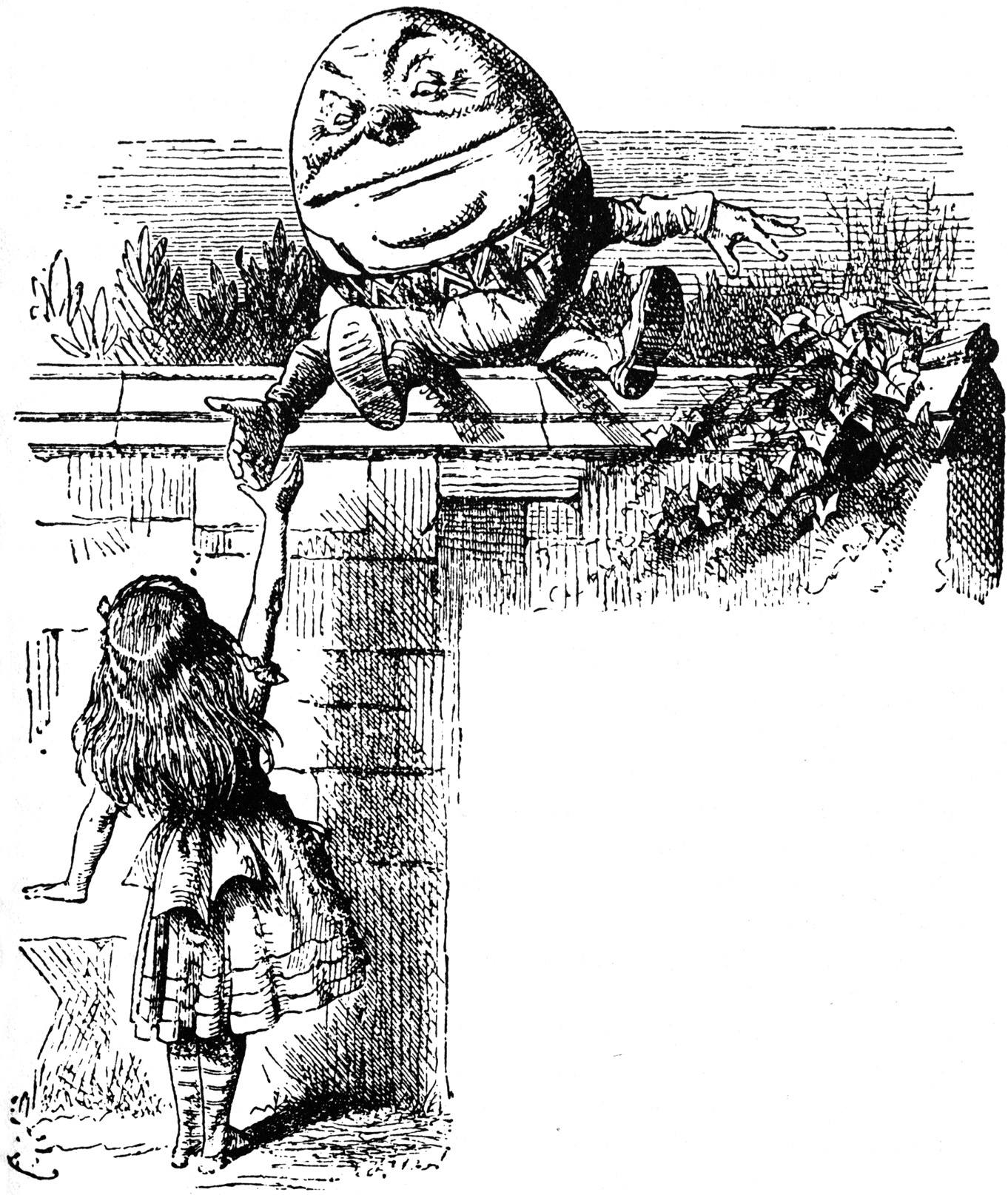 Alice meeting Humpty Dumtpy