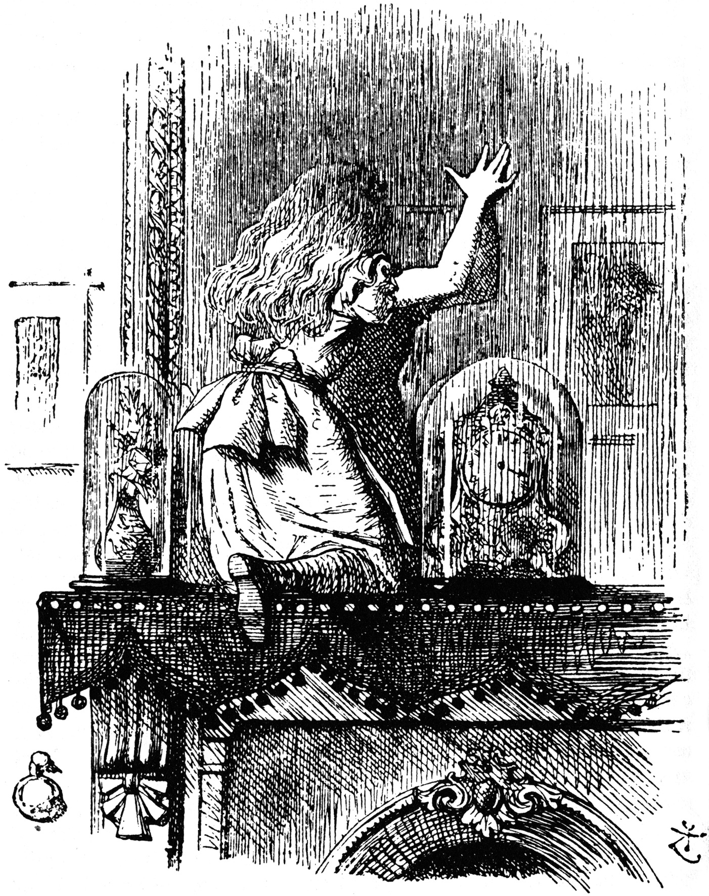 Alice going through the Looking Glass
