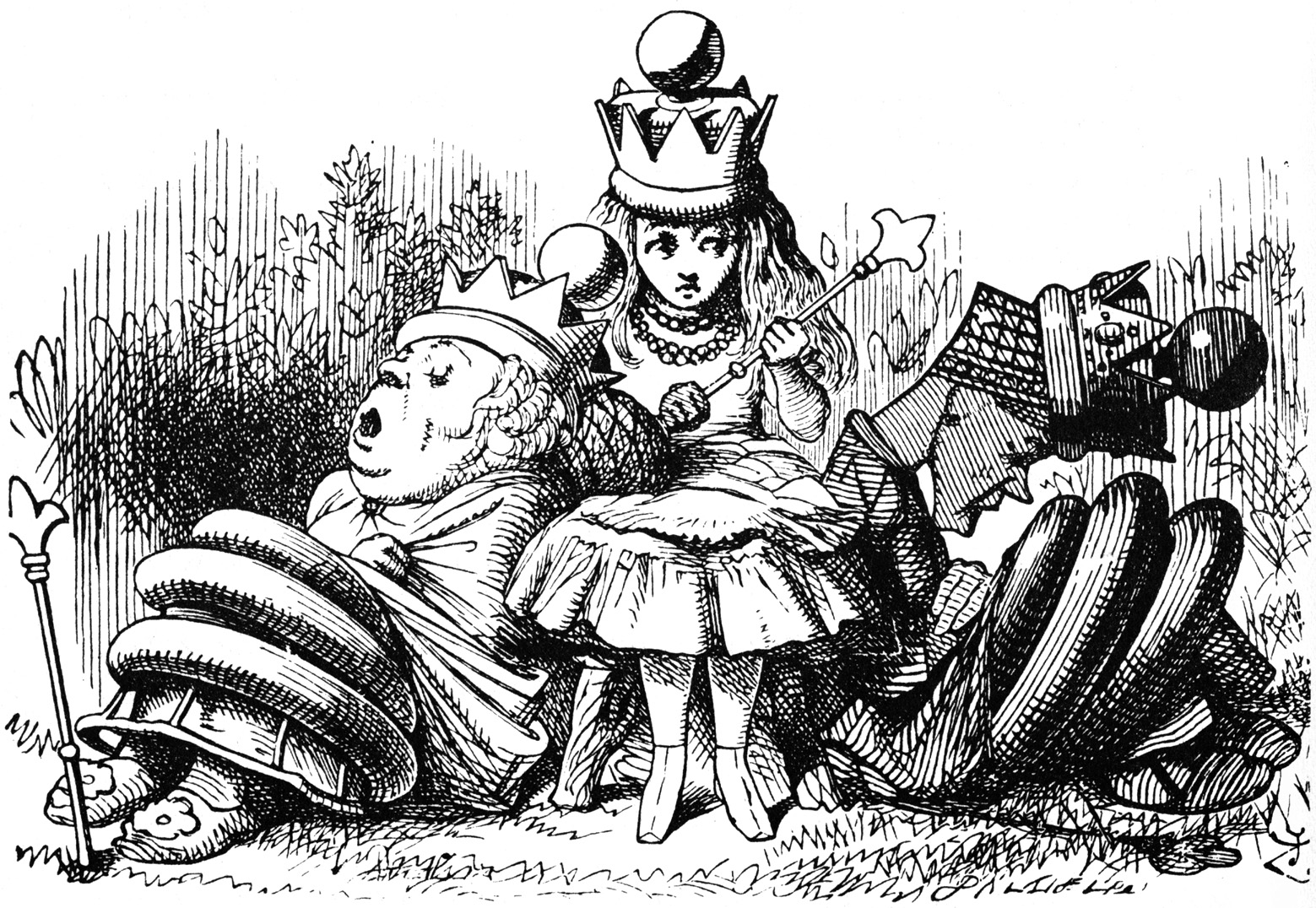 Alice with sleeping queens