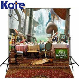 65-Ft5-Ftt-Alice-in-Wonderland-Photography-Backdrop-cartoon-cat-carpet-mushrooms-background-for-photography-studio-Custom-size-0