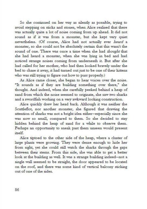 Alice's Adventures under Water page 86