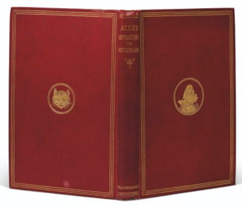 Cover of 1866 Alice's Adventures in Wonderland copy