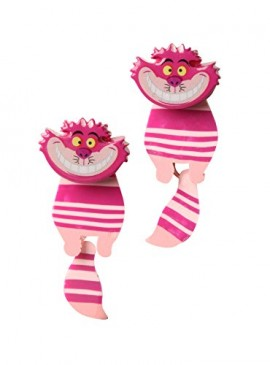 Alice-In-Wonderland-Cheshire-Cat-Front-And-Back-Tunnel-Earrings-Jewelry-0