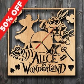Alice-In-Wonderland-Movie-Gifts-Wood-Clock-Wall-Art-Home-Decor-0