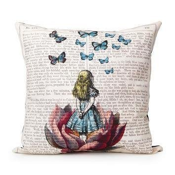 Alice-In-Wonderland-Pillow-case-Pillowcase-16x16-inches-Two-Sides-Print-CMF026-0