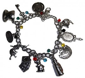 Alice-in-The-Wonderland-11-Themed-Charms-Silvertone-Charm-Bracelet-0