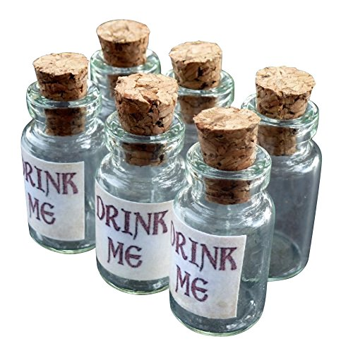Alice-in-Wonderland-6Pcs-Steampunk-Antique-1ml-Drink-Me-Vial-Mix-Lot-96-0