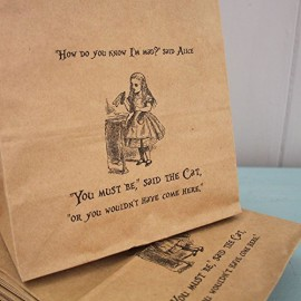 Alice-in-Wonderland-Party-Bags-White-with-Handles-x-10-Wedding-Mad-Hatters-0-0