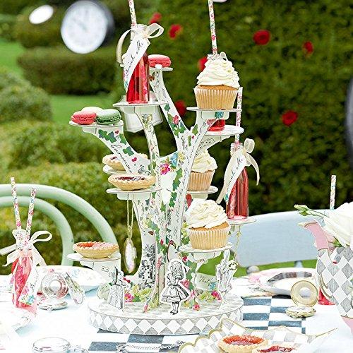 alice in wonderland tea party standing cards
