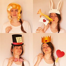 Alice-in-Wonderland-Photo-Booth-Wooden-Stick-Prop-Kit-FREE-BONUS-Photo-Booth-Sign-Use-as-Alice-in-Wonderland-Party-Decorations-Photo-Booth-Props-or-Alice-in-Wonderland-Party-Supplies-0-3