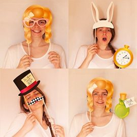 Alice-in-Wonderland-Photo-Booth-Wooden-Stick-Prop-Kit-FREE-BONUS-Photo-Booth-Sign-Use-as-Alice-in-Wonderland-Party-Decorations-Photo-Booth-Props-or-Alice-in-Wonderland-Party-Supplies-0-7