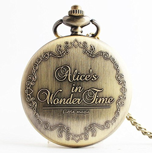 Alice in wonderland pocket watch necklace cheshire cat pendant alice in wonderland pocket watch necklace aloadofball Image collections