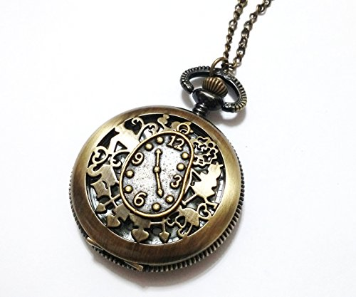 Alice in wonderland pocket watch necklace vintage style pocket alice in wonderland pocket watch necklace aloadofball Image collections
