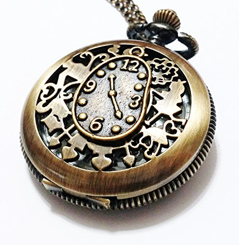 Alice in wonderland pocket watch necklace vintage style pocket alice in wonderland pocket watch necklace aloadofball Choice Image