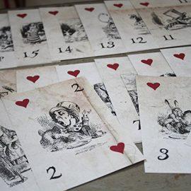 Alice-in-Wonderland-Table-Numbers-Distressed-Vintage-White-Card-1-15-Wedding-0-2