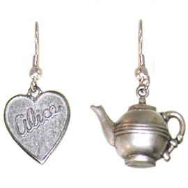 Alice-in-Wonderland-Tea-Party-Earrings-Quality-Made-in-USA-in-Burnished-Silver-0