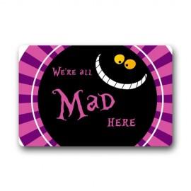 Alice-in-Wonderland-Were-all-mad-here-Cheshire-Cat-Smile-Face-Doormat-Outdoor-Indoor-Floor-Mat-236-x157-Inch-0