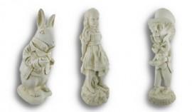 Alice-in-Wonderland-White-Rabbit-Mad-Hatter-Alice-Garden-Statue-Set-0