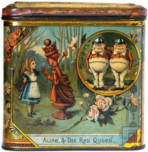Alice in Wonderland bisquit tin