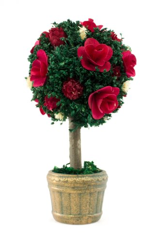 An-Evening-to-Remember-Topiary-Floral-Arrangement-Centerpiece-Flower-Color-Red-0