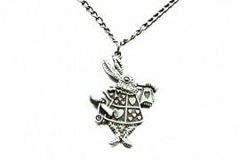 Ancient-Bronze-Rabbit-Necklace-Alice-in-Wonderland-Rabbit-Necklace-Bunny-Hare-Pendant-0