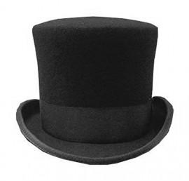 Black-Mad-Hatter-Top-Hat-100-Wool-Victorian-0-0