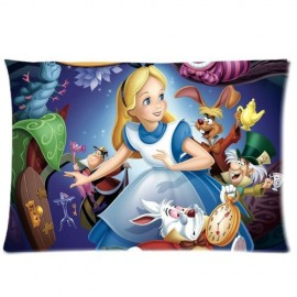 Cartoon-Movie-Alice-In-Wonderland-Pillowcase-Standard-Size-20x30-Cotton-Pillow-Case-Cover-0