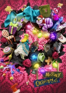Disney-ALICE-in-Wreath-Of-Wonderland-3D-Lenticular-Greeting-Card-Christmas-3D-Postcard-0