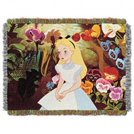 Disney-Alice-in-Wonderland-Alice-in-The-Garden-Tapestry-Throw-46-by-60-0