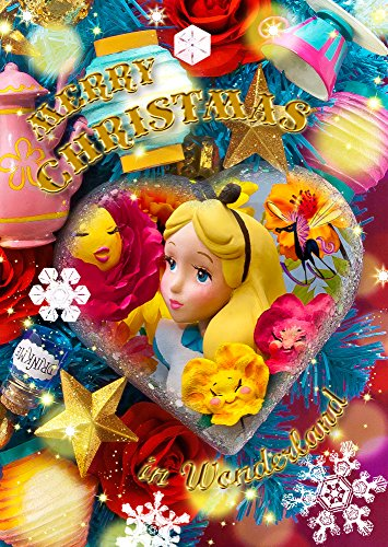 Disney-Alice-in-Wonderland-Christmas-Ornament-3D-Lenticular-Greeting-Card-3D-Postcard-0