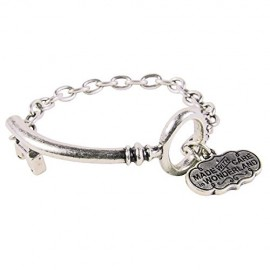 Disney-Couture-Alice-in-Wonderland-Curved-Key-Bracelet-White-Gold-Plated-0