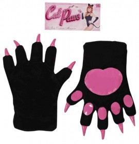 Forum-Novelties-Womens-Cat-Paws-Gloves-Black-One-Size-0