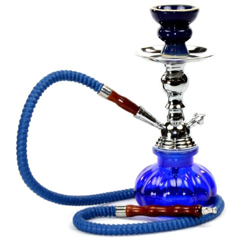 GSTAR-11-Premium-1-Hose-Hookah-Complete-Set-Mini-Pumpkin-Hookah-Glass-Vase-Royal-Blue-0
