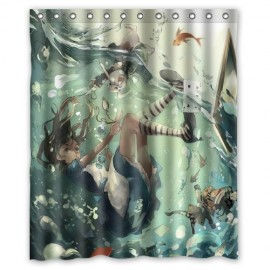 Generic-Alice-in-Wonderland-Shower-Curtain-60-Inch-By-72-Inch-0