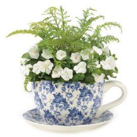Gifts-Decor-Blue-Floral-Teacup-Saucer-Decorative-Garden-Planter-0-0
