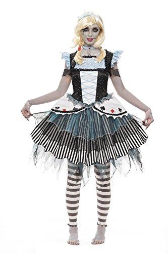 Halloween Adult Zombie Alice Costume Alice In Wonderland Net Shop