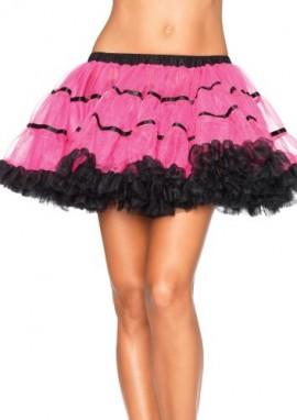 Leg-Avenue-Womens-Layered-Striped-Petticoat-Neon-PinkBlack-One-Size-0