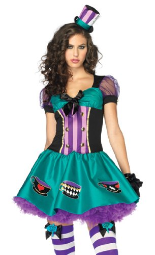 Leg Avenue Womenu0027s Teacup Mad Hatter Costume Set  sc 1 st  Alice in Wonderland.net : mad hatter womens halloween costume  - Germanpascual.Com