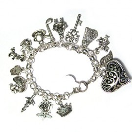 Love-Alice-in-Wonderland-Story-Book-75-Charm-Bracelet-Silver-Plated-0