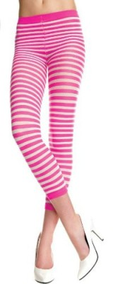 Music-Legs-Duotone-Striped-Leggings-Hot-PinkWhite-One-Size-Fits-Most-0