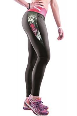 Pink-Queen-Girls-Marilyn-Monroe-Print-Patchwork-Wide-Waist-Yoga-Leggings-0